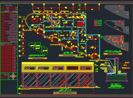 دانلود نقشه های فاز 2 معماری یک پروژه ی تجاری-اداری در  شهرک سهند
